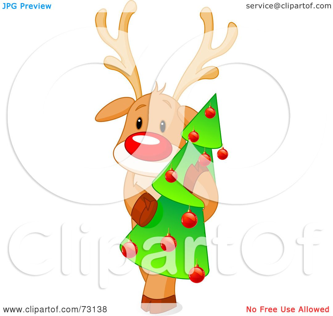 Royalty-Free (RF) Clip Art Illustration of a Cute Rudolph ...