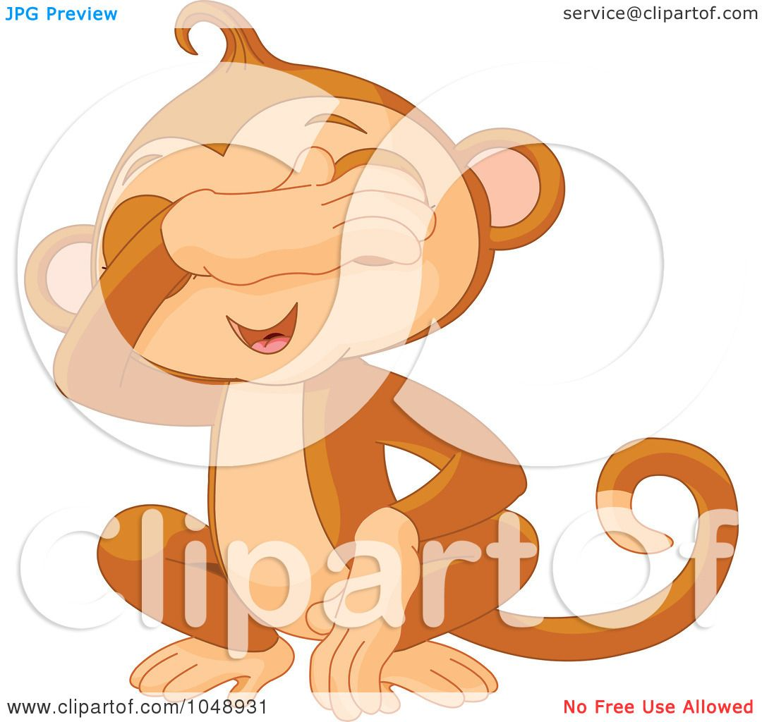 Royalty free rf clip art illustration of a cute see no for Free clipart no copyright