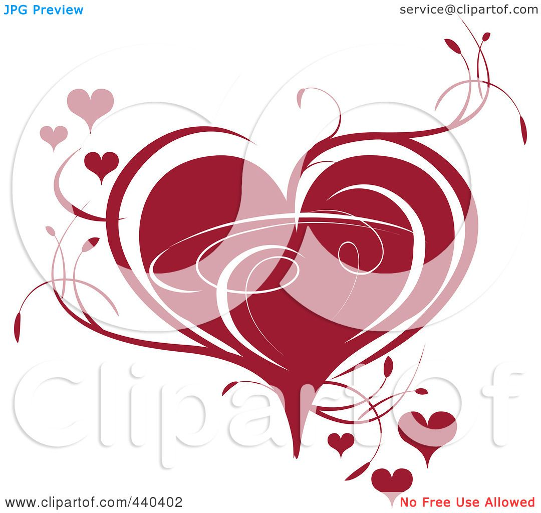Royalty-Free (RF) Clip Art Illustration of a Deep Red ...