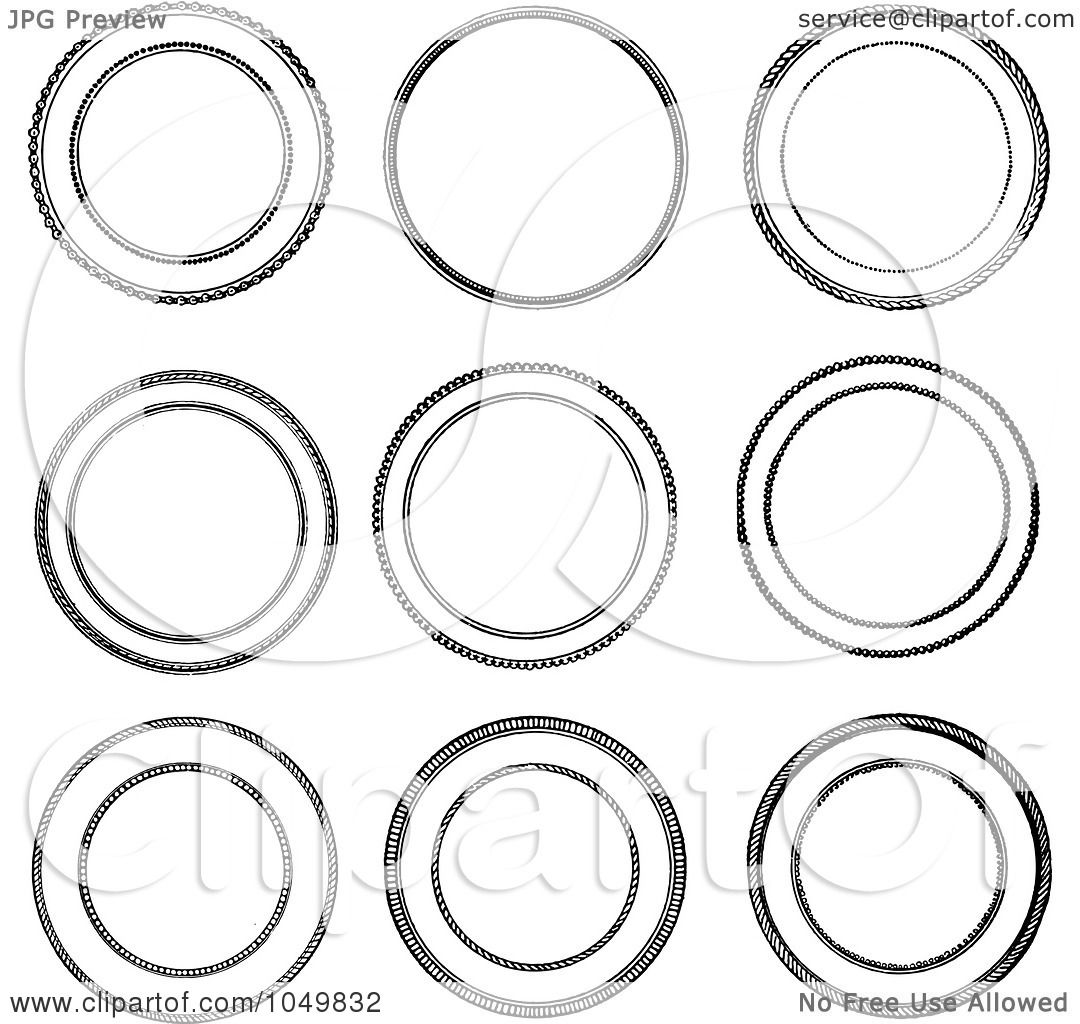 vintage clip art circle - photo #3