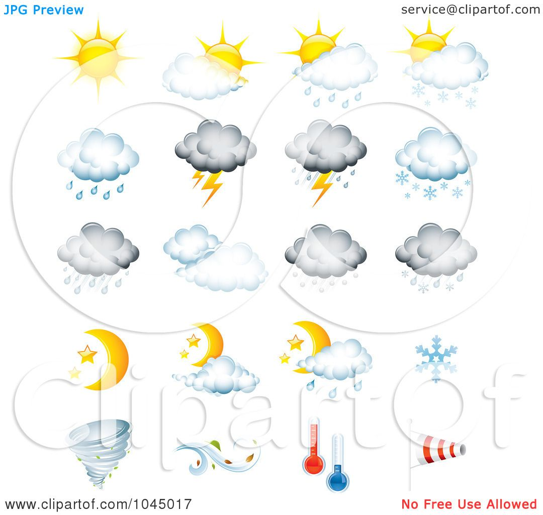 photo about Printable Weather Forecast called Royalty-No cost (RF) Clip Artwork Example of a Electronic Collage