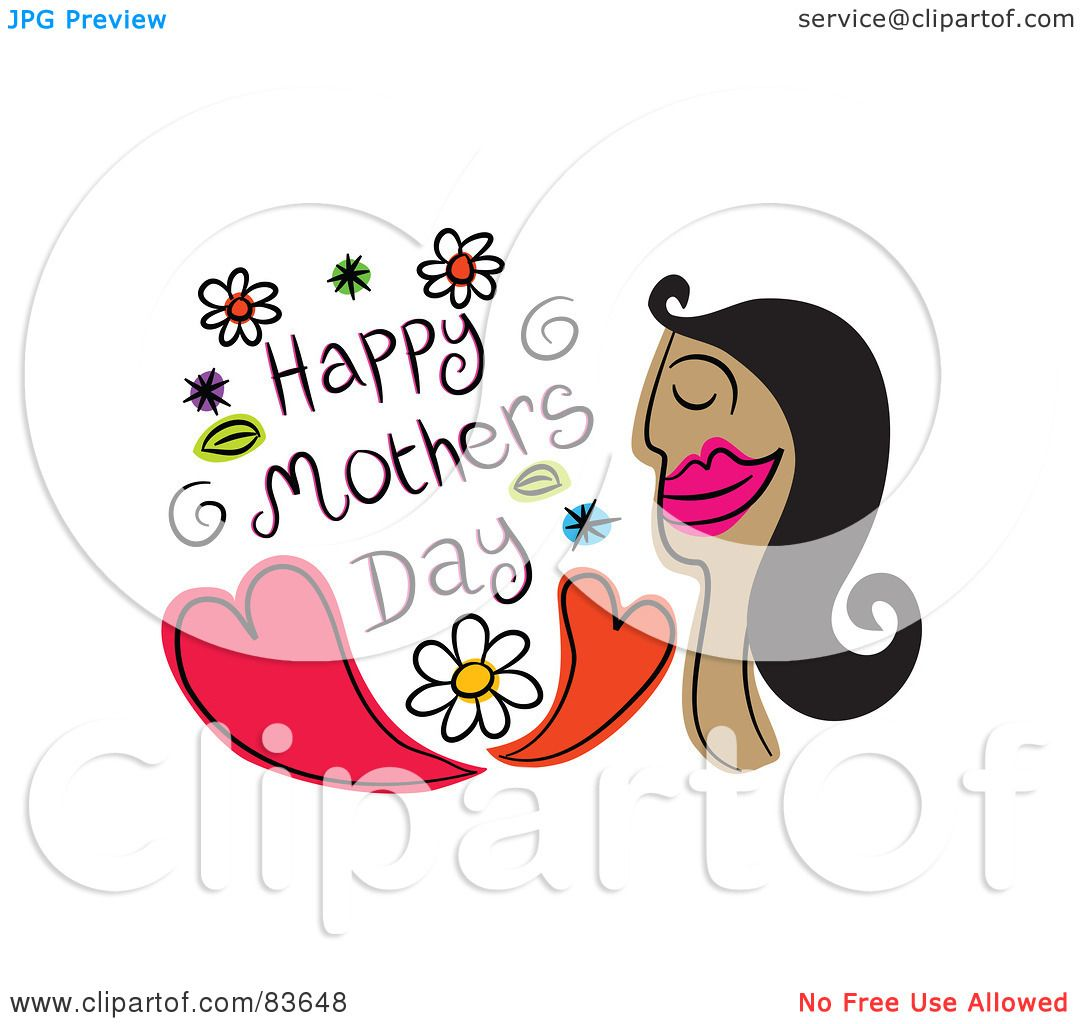 ... of a Happy Mothers Day Greeting With A Woman An Hearts by Prawny