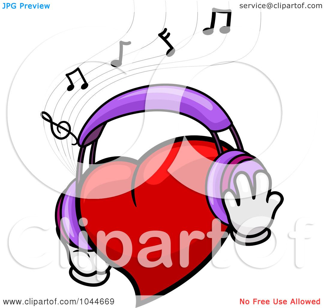 Royalty-Free (RF) Clip Art Illustration of a Heart Wearing ...