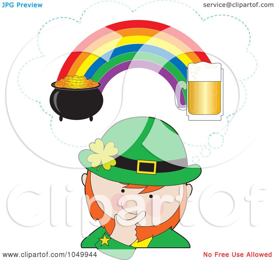 Royalty-Free (RF) Clip Art Illustration of a Leprechaun Imagining ...