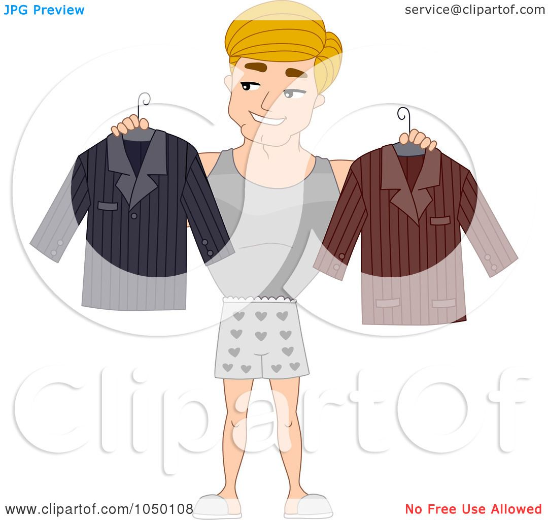 Deciding stock illustrations royalty free gograph - Royalty Free Rf Clip Art Illustration Of A Man Deciding On What To Wear By Bnp Design Studio