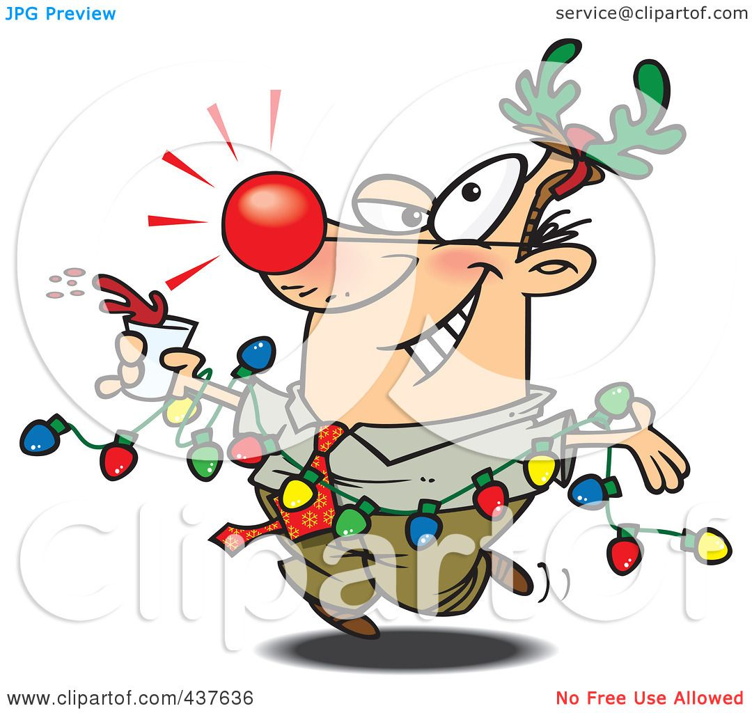 Royalty free rf clip art illustration of a red nosed