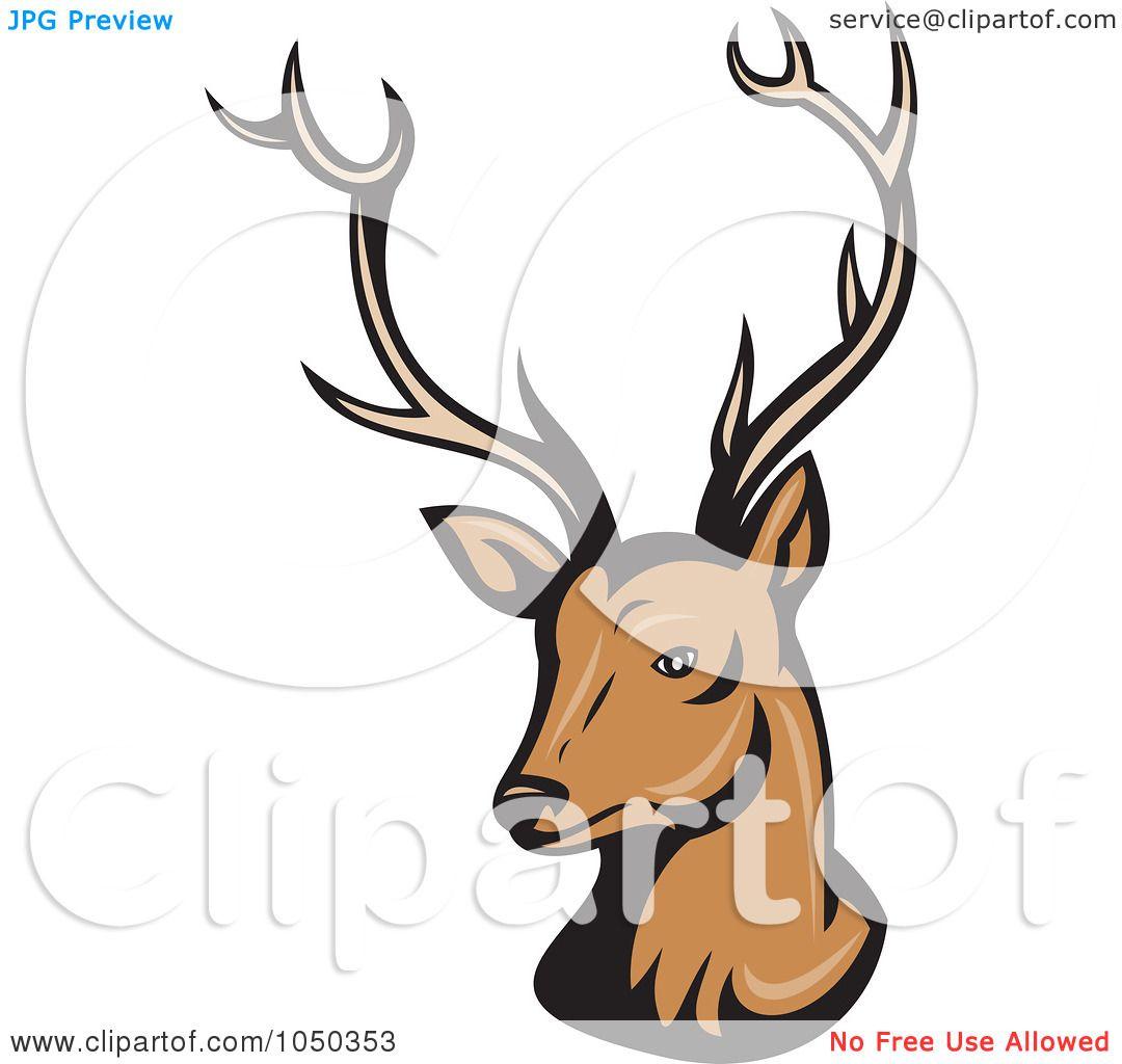 Christmas Reindeer Head Clip Art Royalty-free (rf) clip art