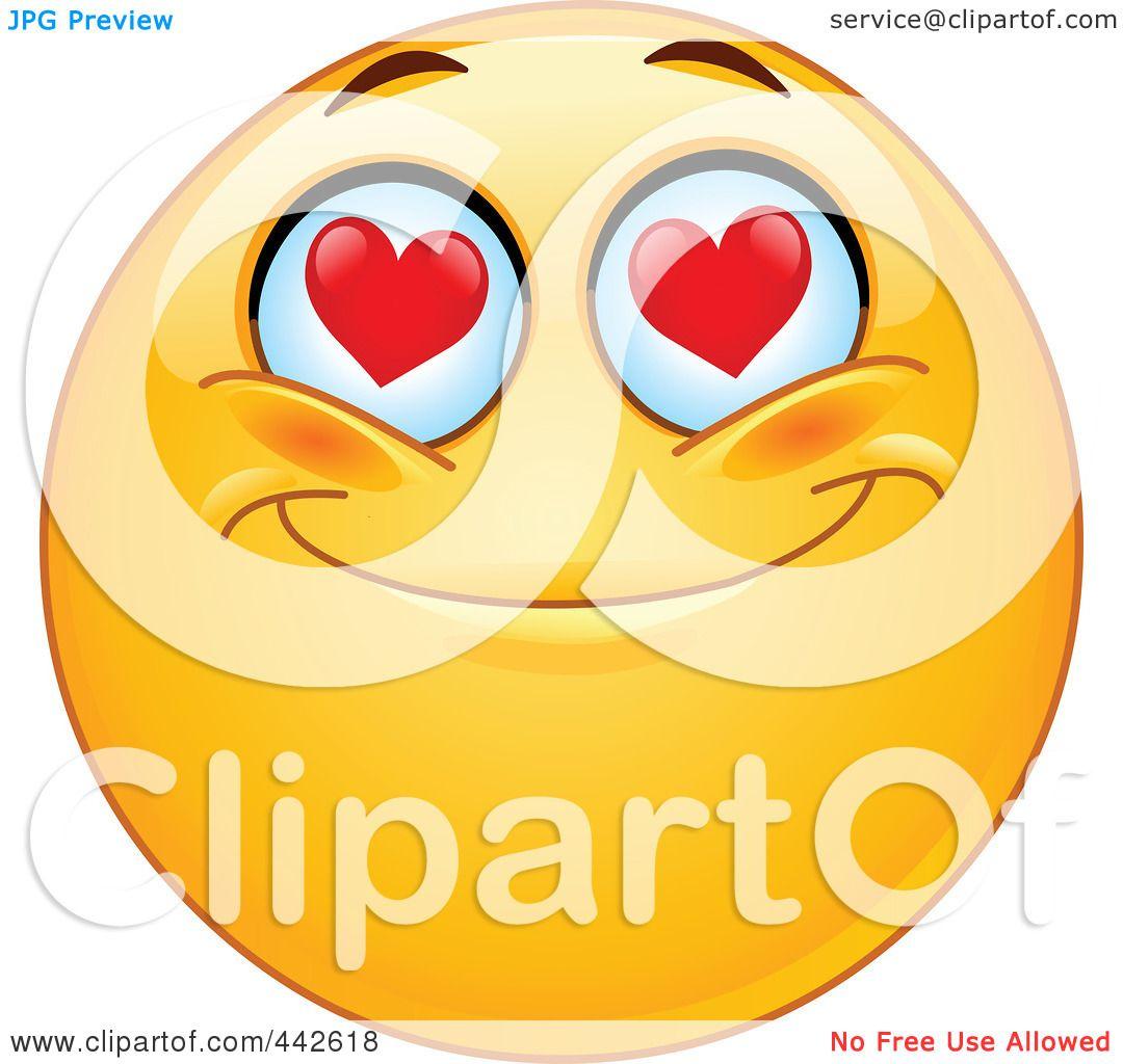royalty free rf clip art illustration of a romantic emoticon with rh clipartof com smiley clipart free clipart emoticons free