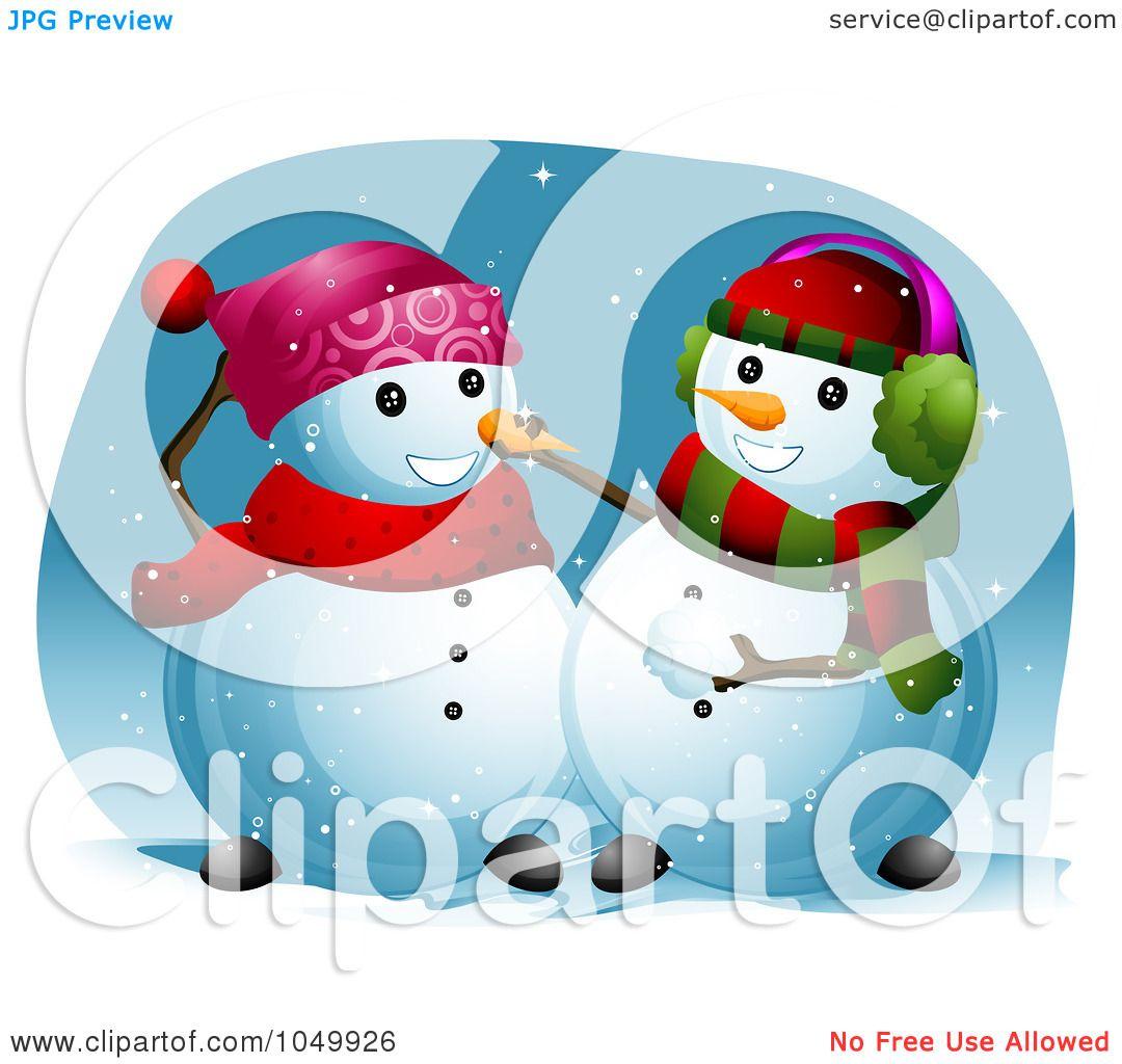 Royalty Free Rf Clip Art Illustration Of A Snowman