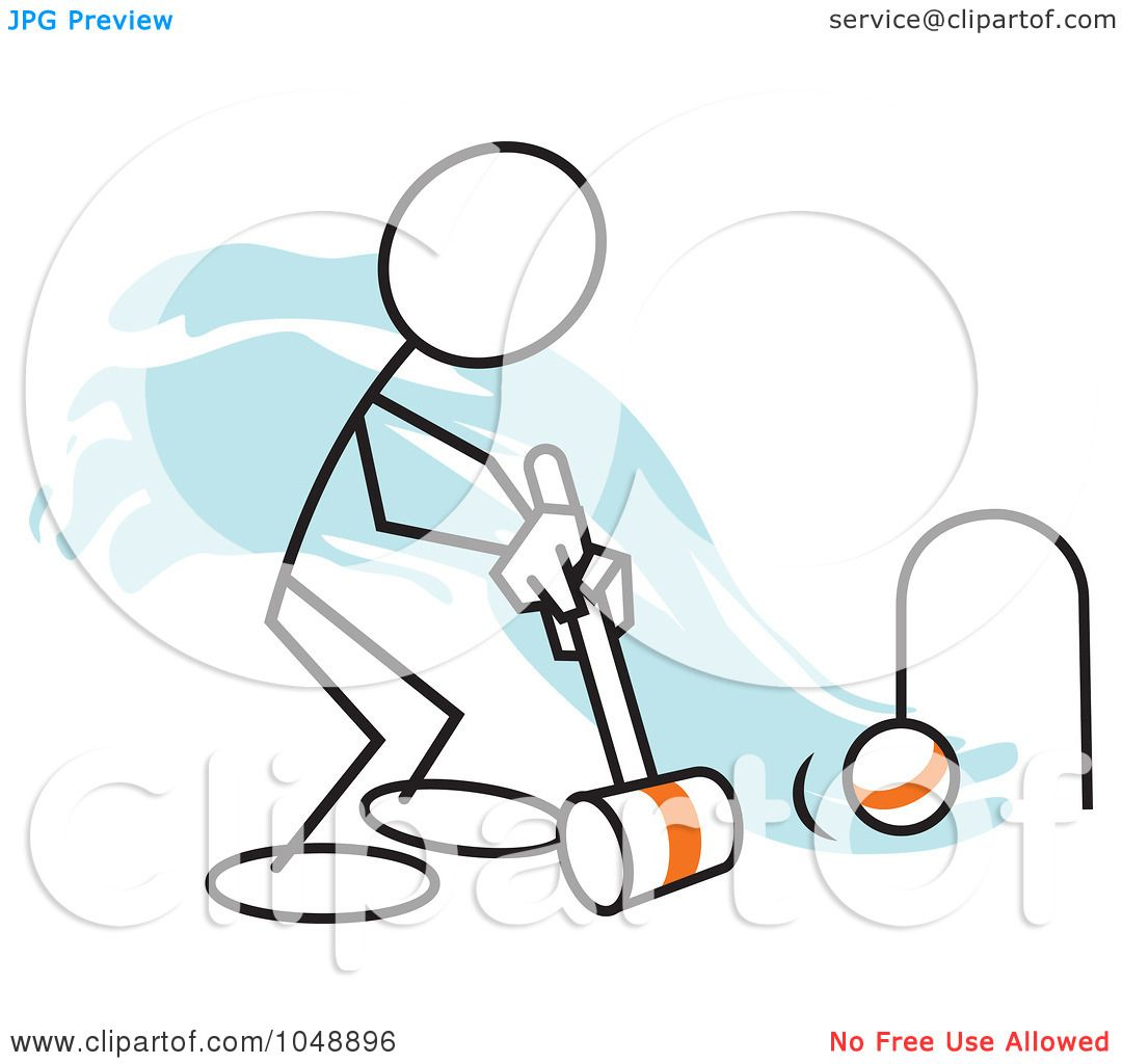 Royalty free rf clip art illustration of a stickler playing royalty free rf clip art illustration of a stickler playing croquet over blue by johnny sajem pooptronica Image collections