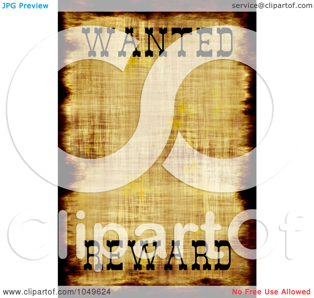 wanted poster template clip art