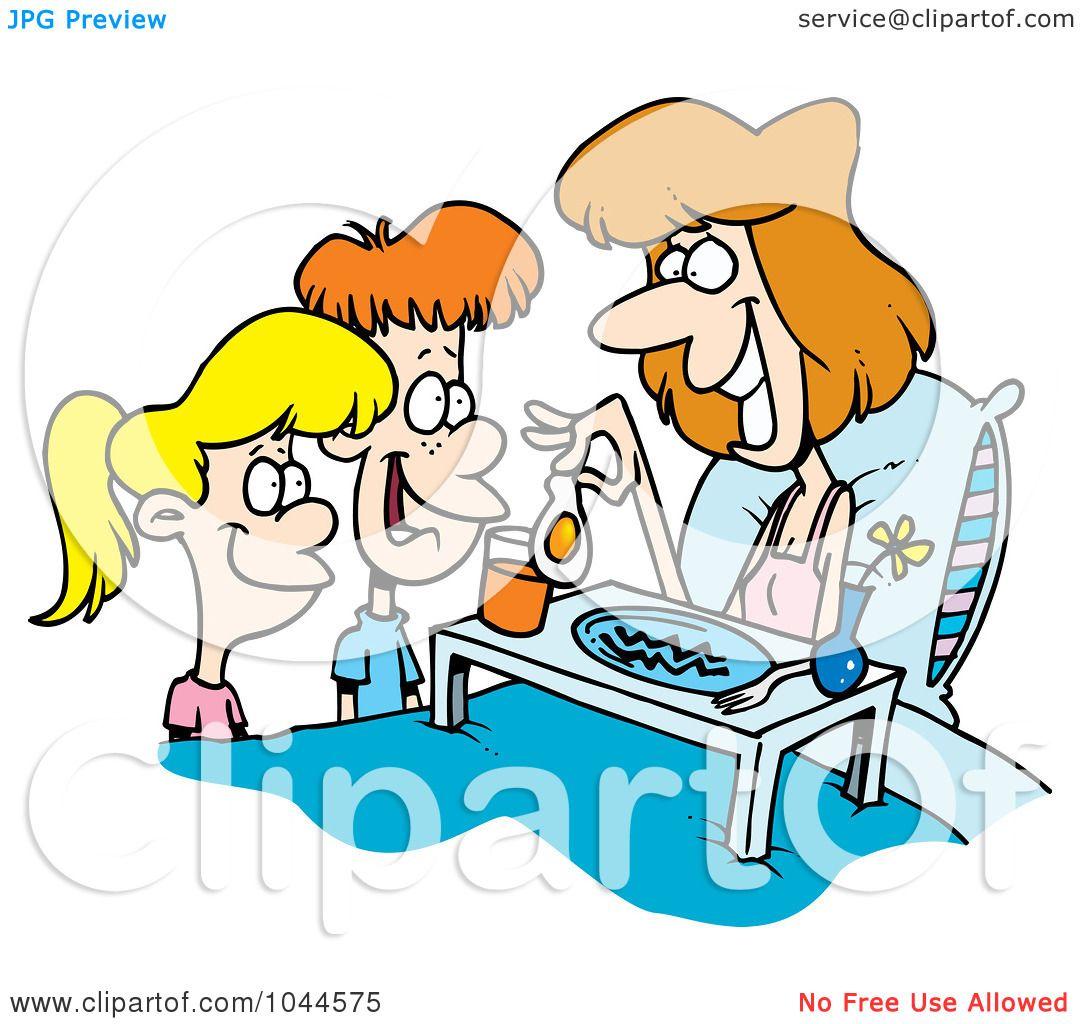 royalty free rf clip art illustration of cartoon children serving rh clipartof com Waiter Clip Art Waiter Clip Art