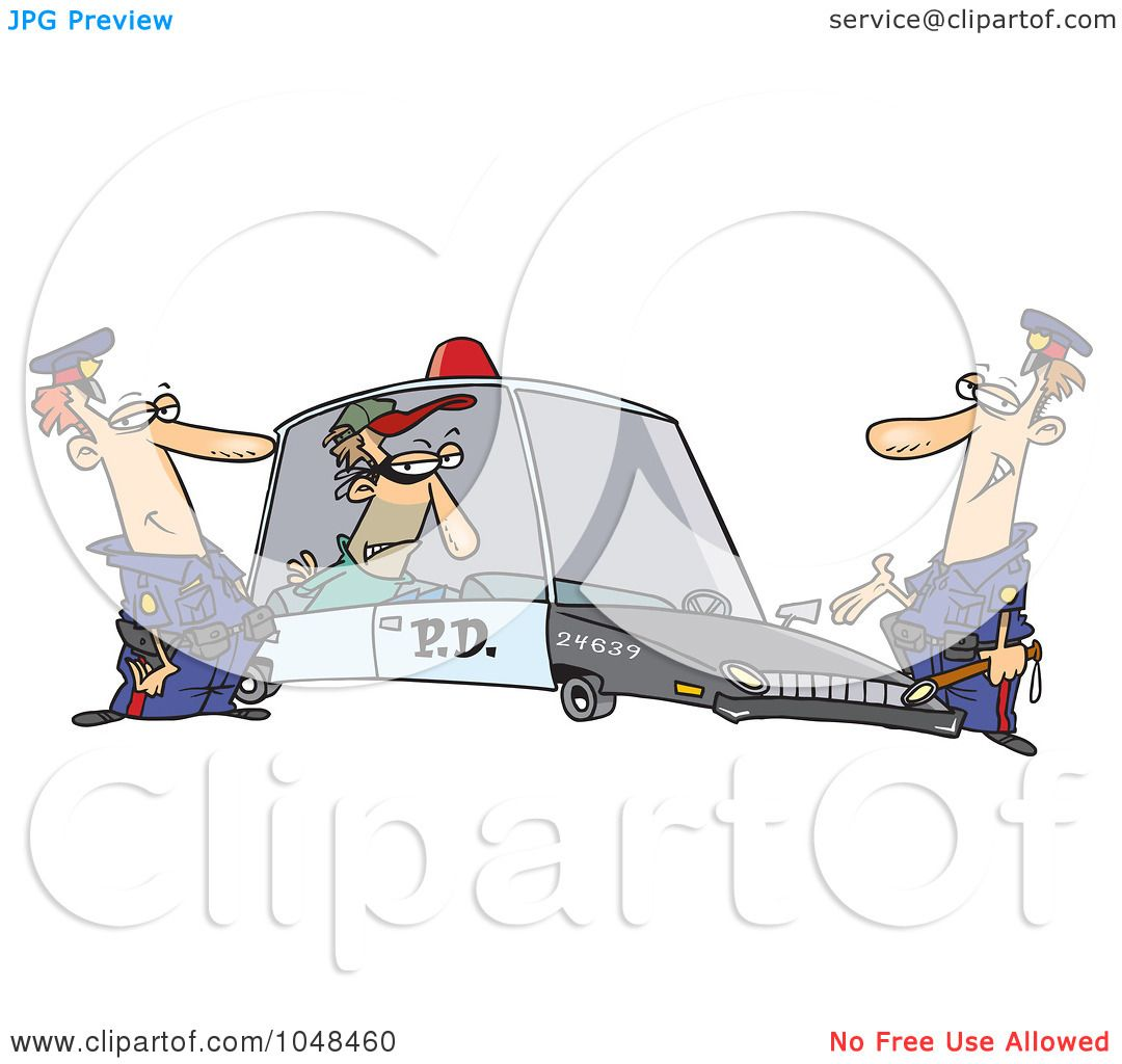 royalty free rf clip art illustration of cartoon cops with a