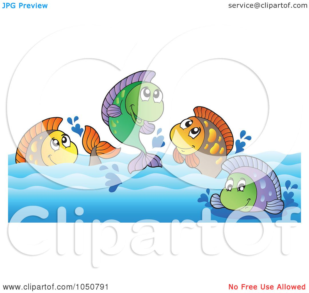 Freshwater fish clipart - Royalty Free Rf Clip Art Illustration Of Freshwater Fish In A River By Visekart