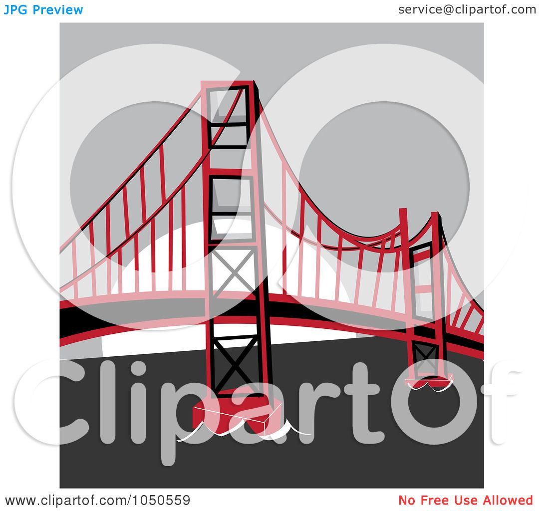Royalty Free Rf Clip Art Illustration Of The Golden Gate