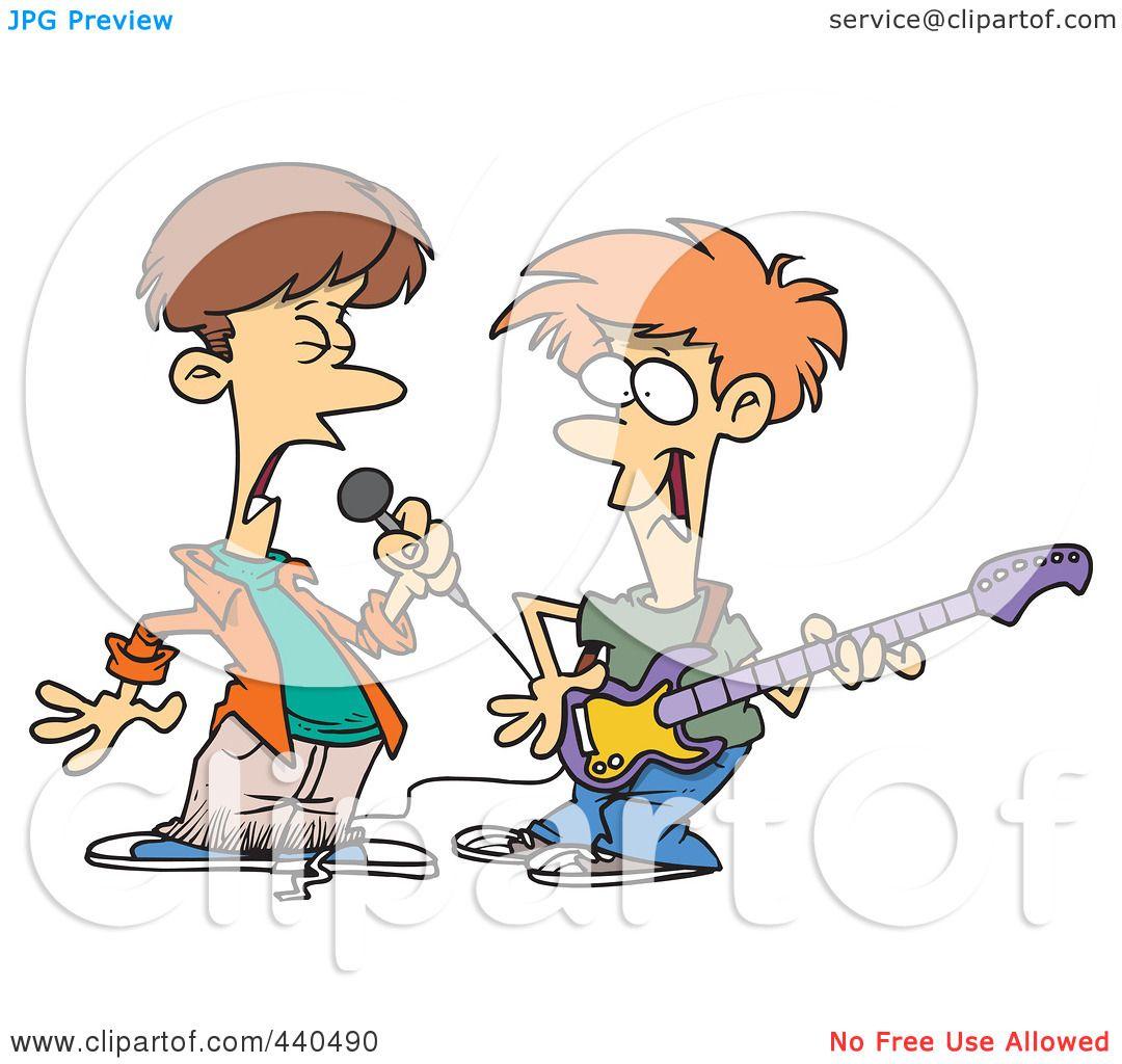 Royalty-Free (RF) Clip Art Illustration of Two Cartoon ... (1080 x 1024 Pixel)