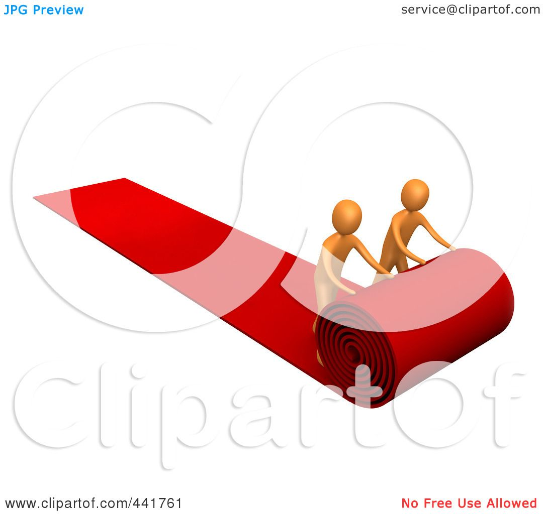 Royalty-Free (RF) Clip Art Illustration of Two Orange Men ...
