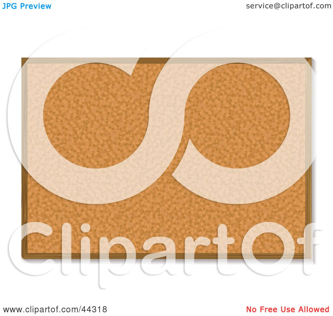 Royalty Free Rf Clip Art Of A Bulletin Board Made Of