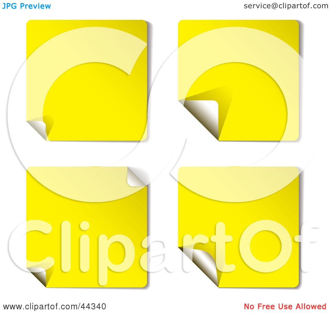 Royalty-free (RF) Clip Art Of Yellow Sticky Note ...