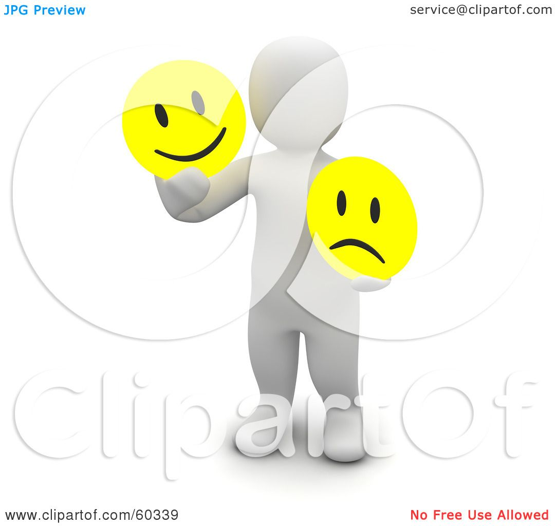 Royalty-Free (RF) Clipart Illustration of a 3d Blanco Man ...