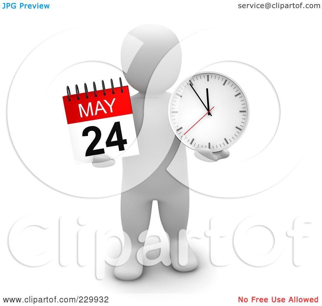 Calendar Time Clip Art : Royalty free rf clipart illustration of a d blanco man