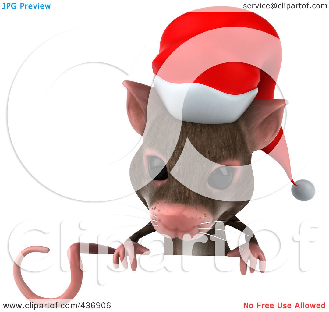royalty free rf clipart illustration of a 3d christmas mouse with rh clipartof com christmas mouse clipart black and white christmas mouse clipart free