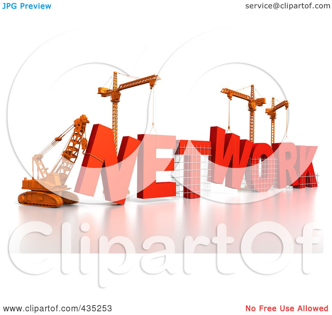 Royalty free rf clipart illustration of a 3d for Contractors network