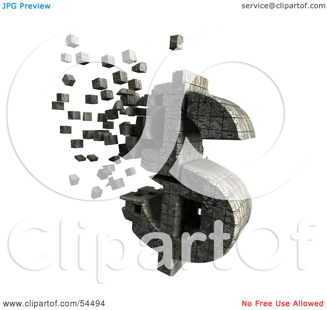 Stone Block Clip Art : Royalty free rf clipart illustration of a d dollar