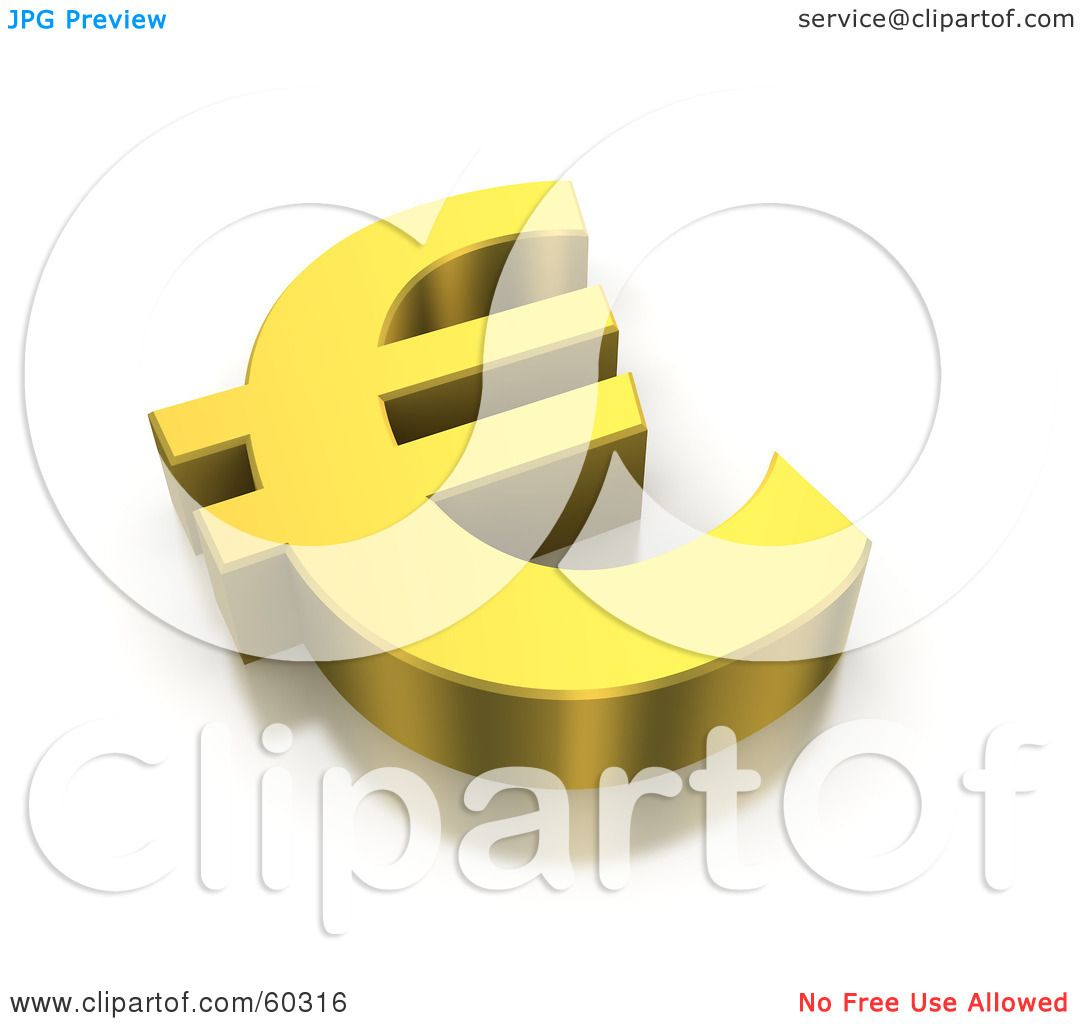 Royalty free rf clipart illustration of a 3d golden euro currency royalty free rf clipart illustration of a 3d golden euro currency symbol by jiri moucka biocorpaavc Images