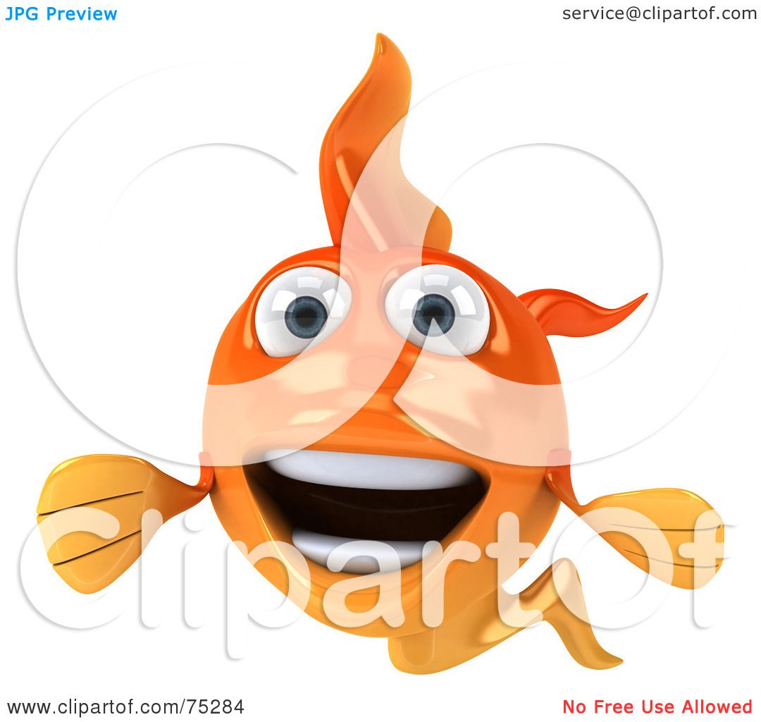 Cartoon Characters Facing Forward : Royalty free rf clipart illustration of a d happy