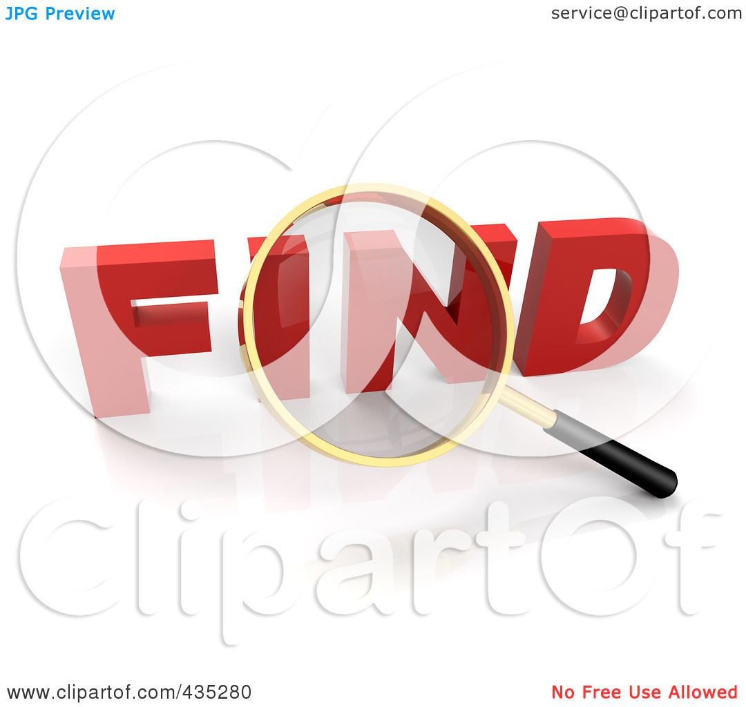 Royalty-Free (RF) Clipart Illustration of a 3d Magnifying ...