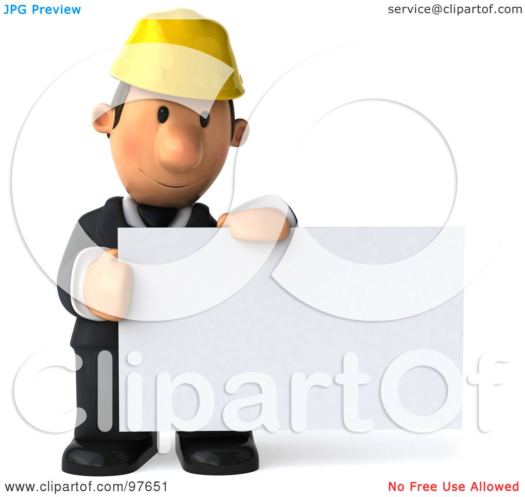 Royalty-Free (RF) Clipart Illustration of a 3d Male Architect ...