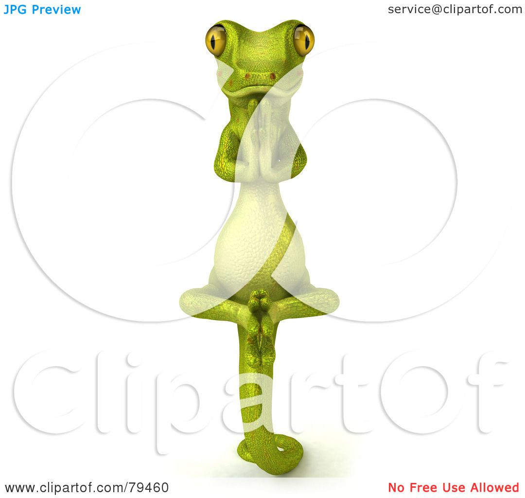 Royalty-Free (RF) Clipart Illustration of a 3d Pico Gecko