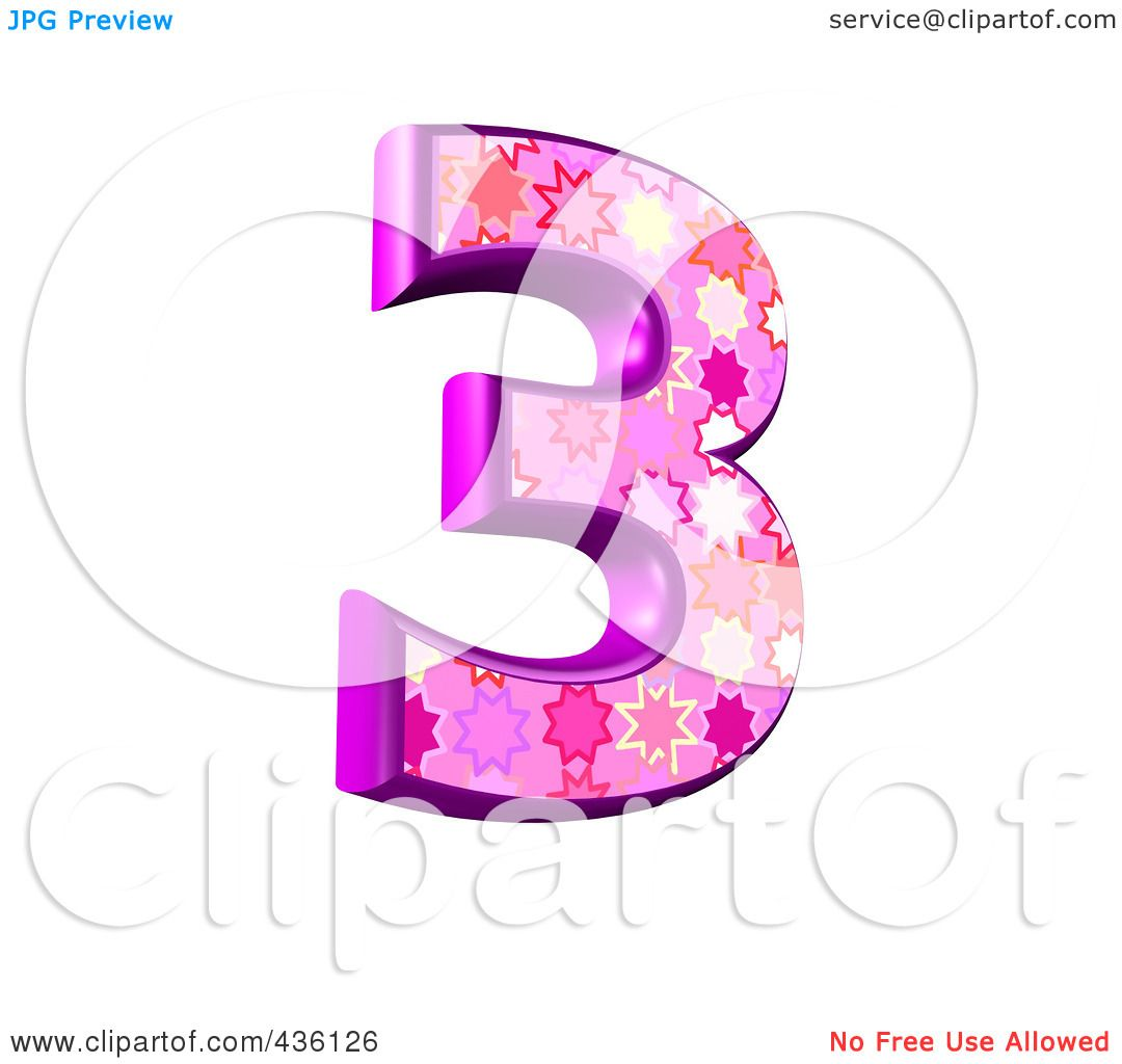 Royalty Free Rf Clipart Illustration Of A 3d Pink Burst