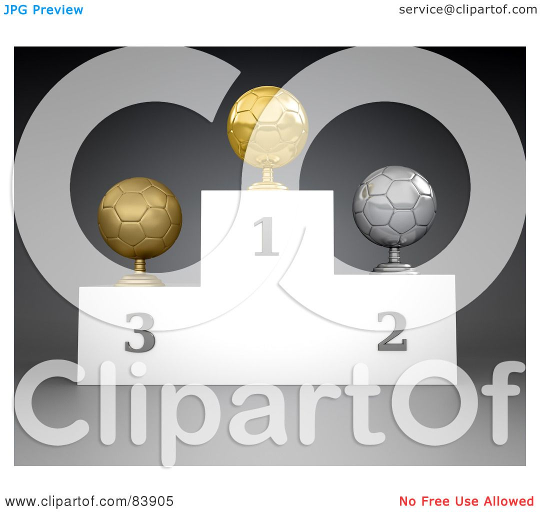 RoyaltyFree RF Clipart Illustration of a 3d Podium Of