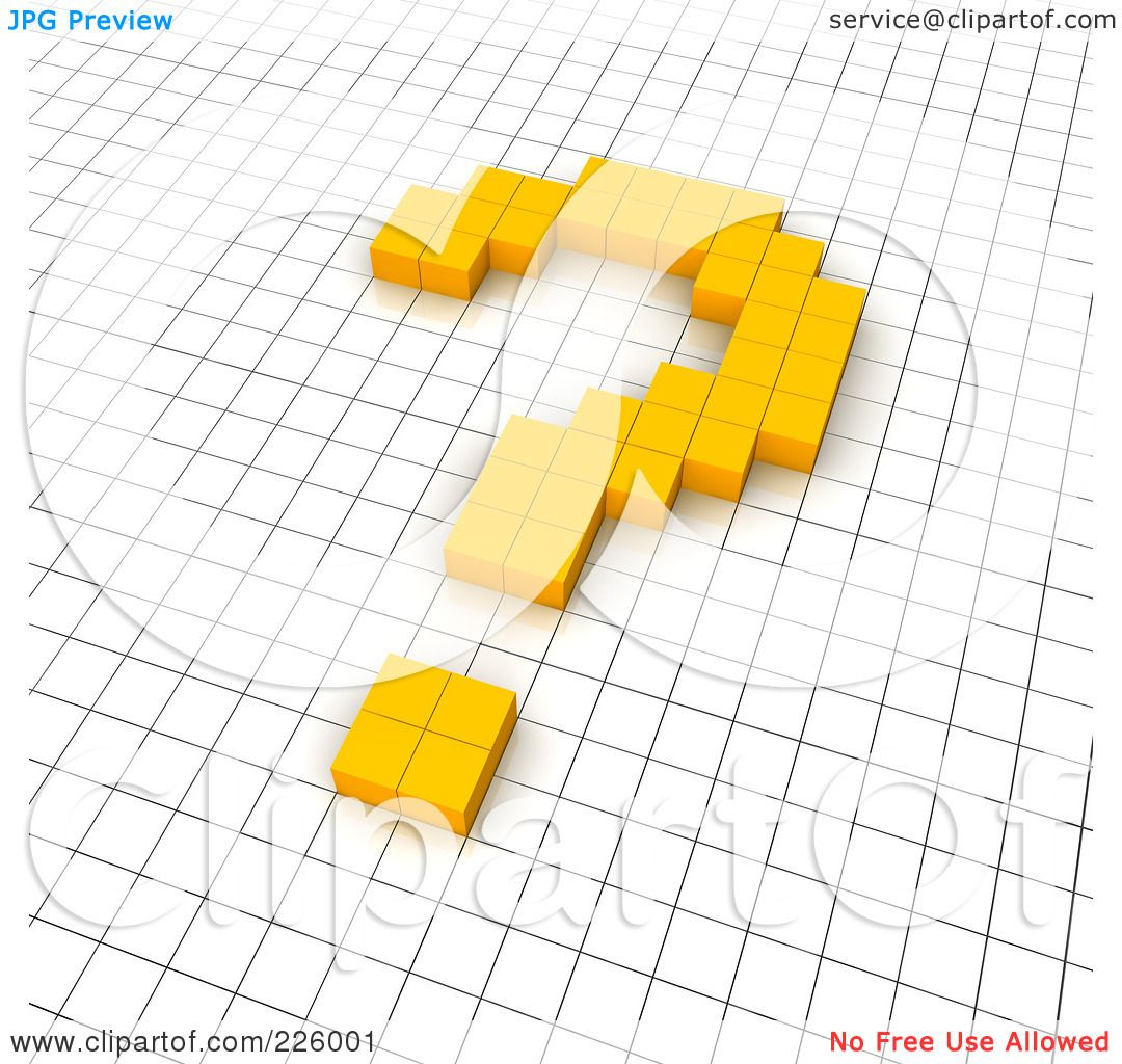 Royalty-Free (RF) Clipart Illustration Of A 3d Question