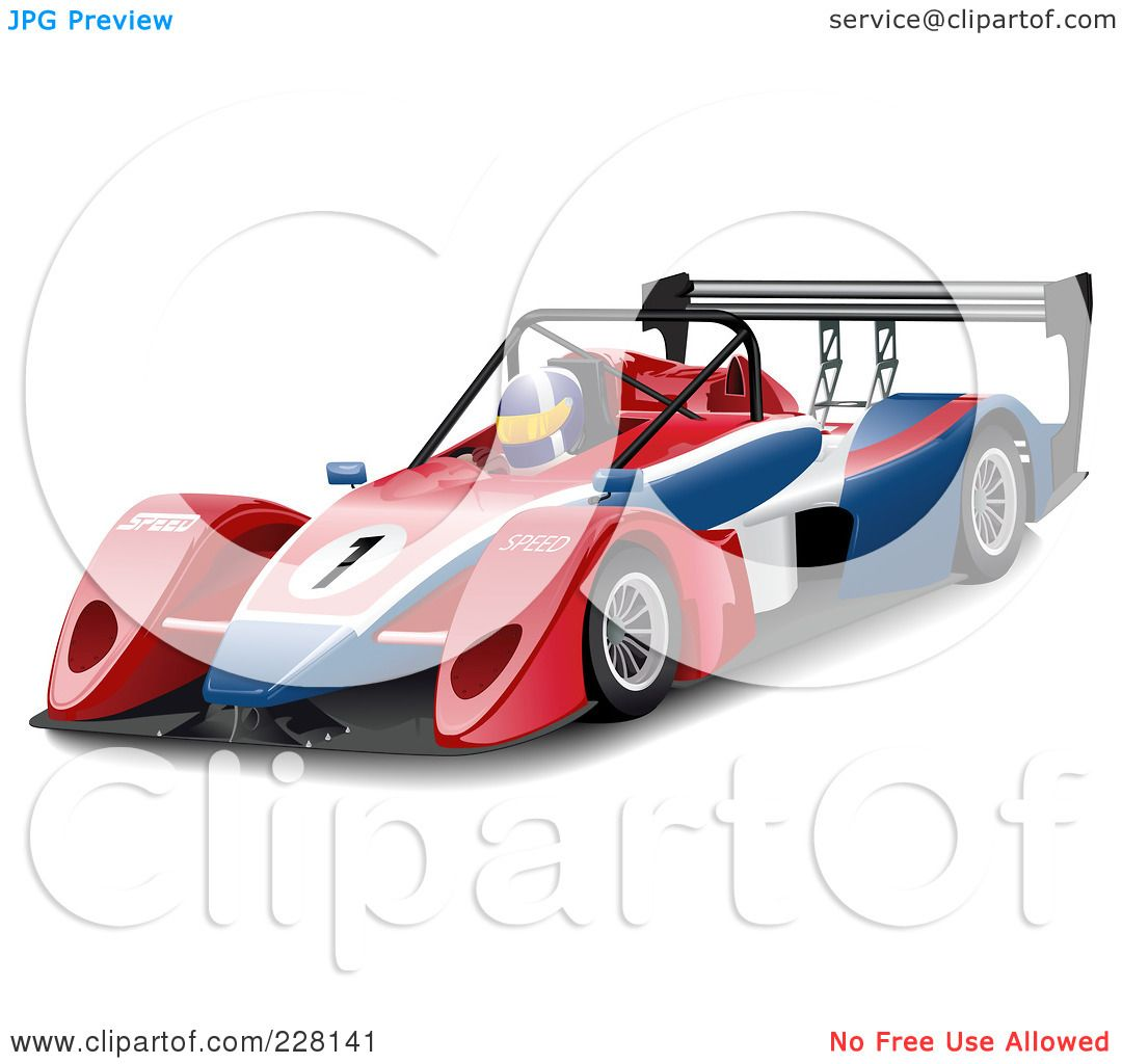 Royalty Free Rf Clipart Illustration Of A 3d Race Car Driver In