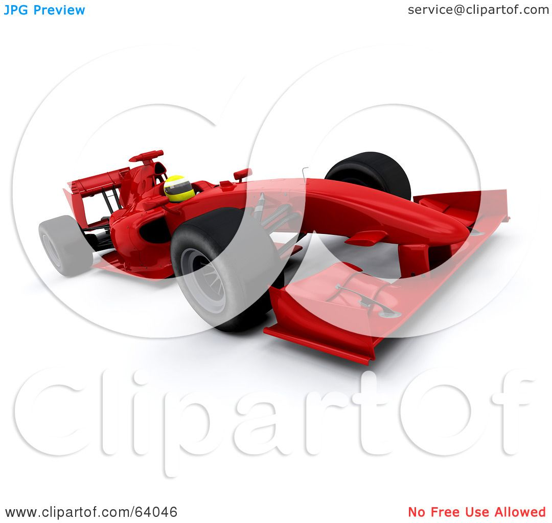 Red Racing Car Clipart 3d Red f1 Race Car Angle