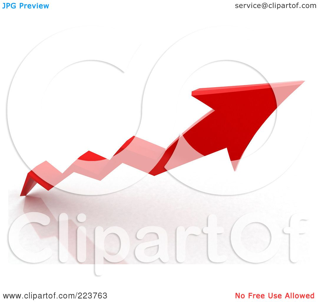 Royalty-Free (RF) Clipart Illustration of a 3d Red Jagged ...