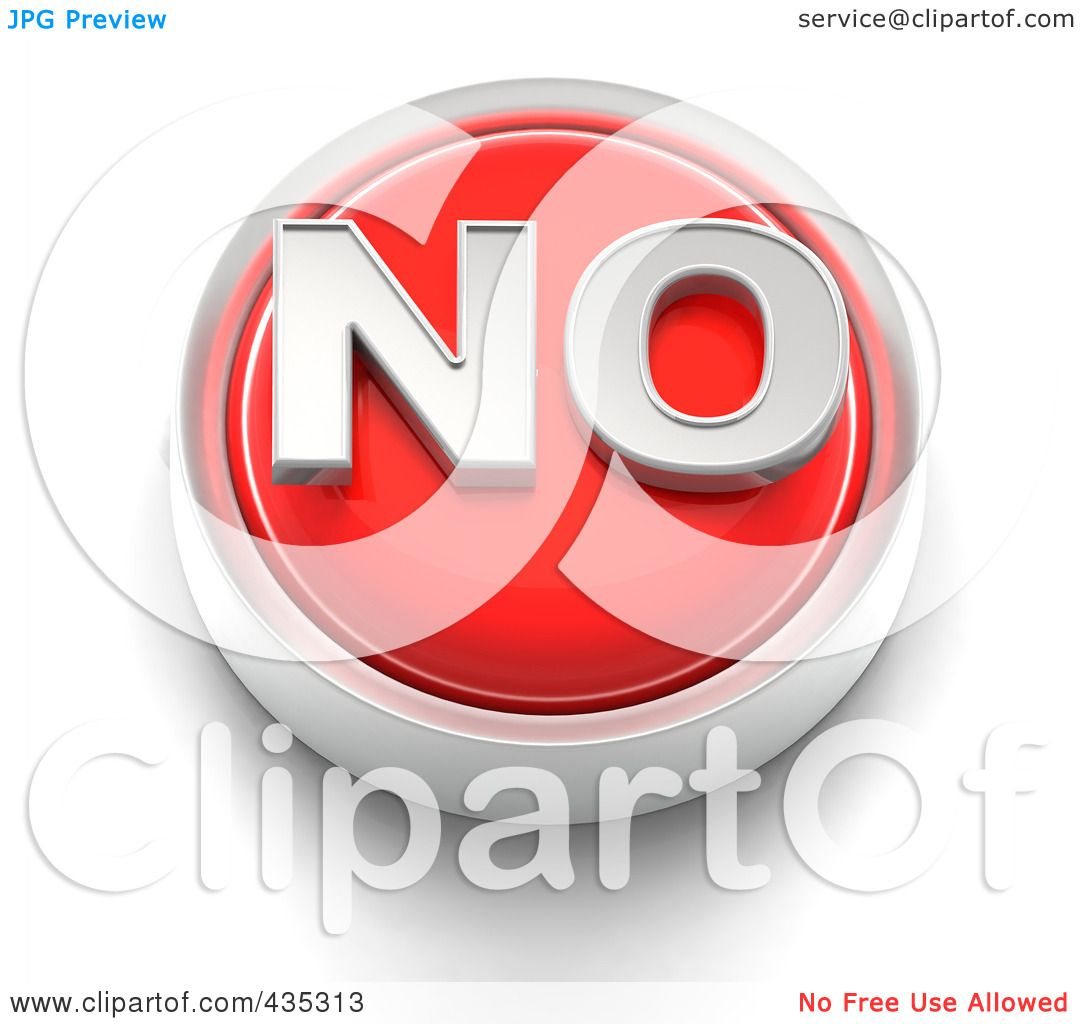 Royalty free rf clipart illustration of a 3d red no for Free clipart no copyright