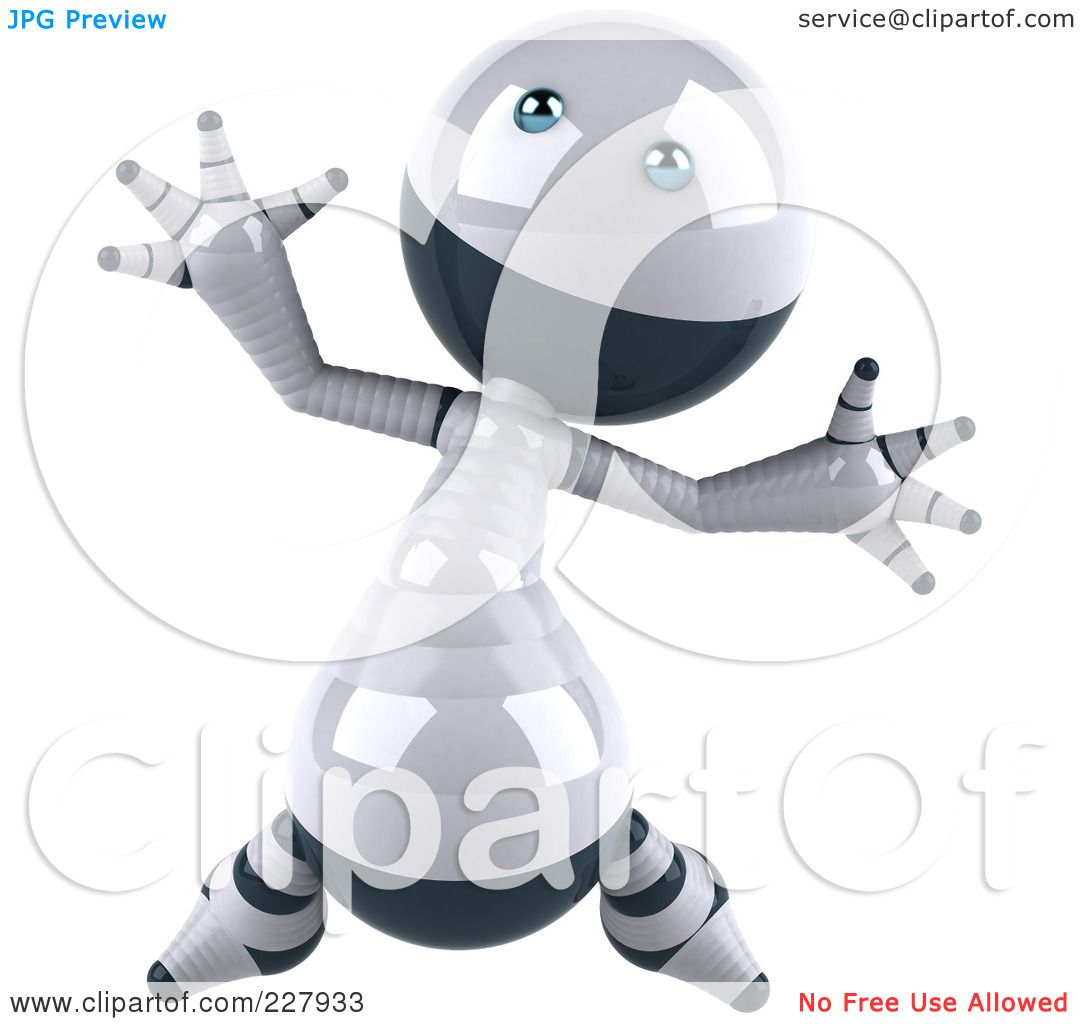 3d Robot Character Holding A Cable And Cutters By Kj Pargeter Picture
