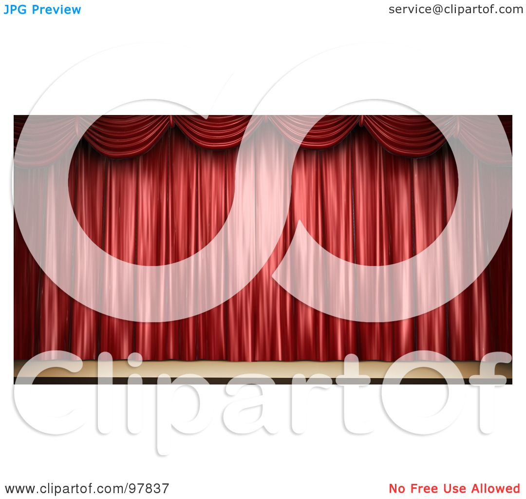 Free coloring pages of stage curtains - Royalty Free Rf Clipart Illustration Of A 3d Stage With Elegant Red Drapes By Mopic