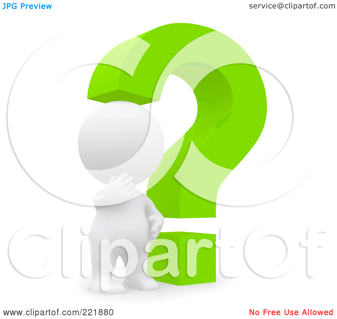 Question Mark Person Green 3d Teeny Person By A GreenQuestion Mark Person Green