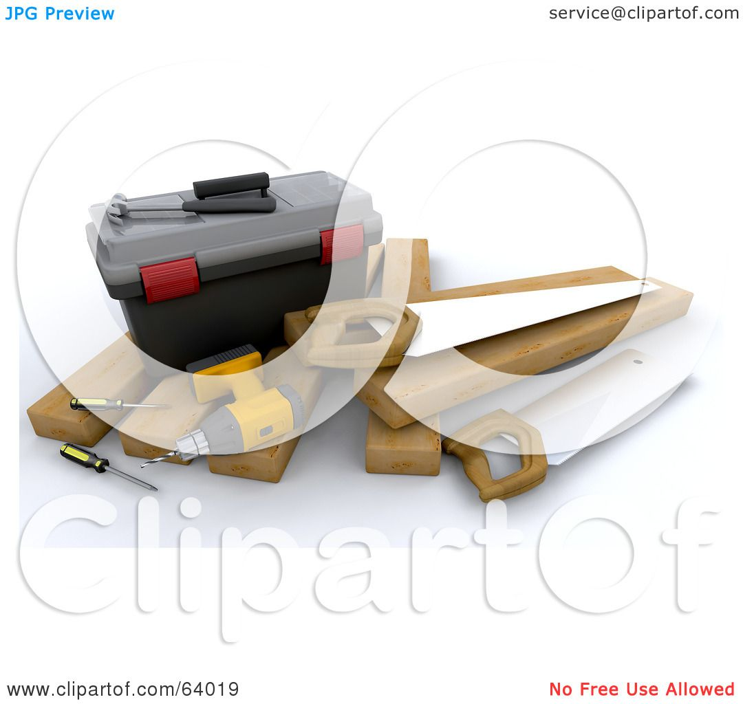 Royalty free rf clipart illustration of a 3d tool box 3d tool free