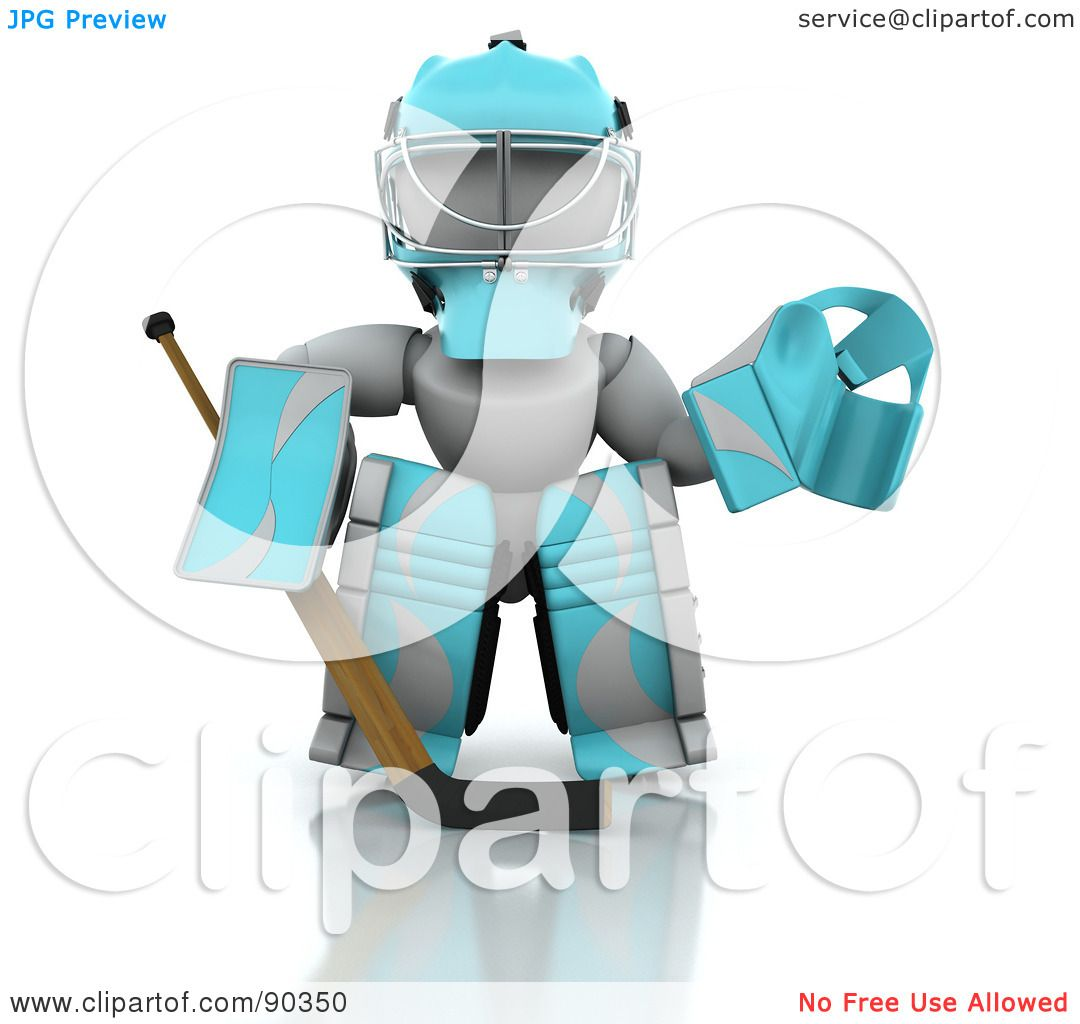 Royalty-Free (RF) Clipart Illustration of a 3d White Character Ice ...