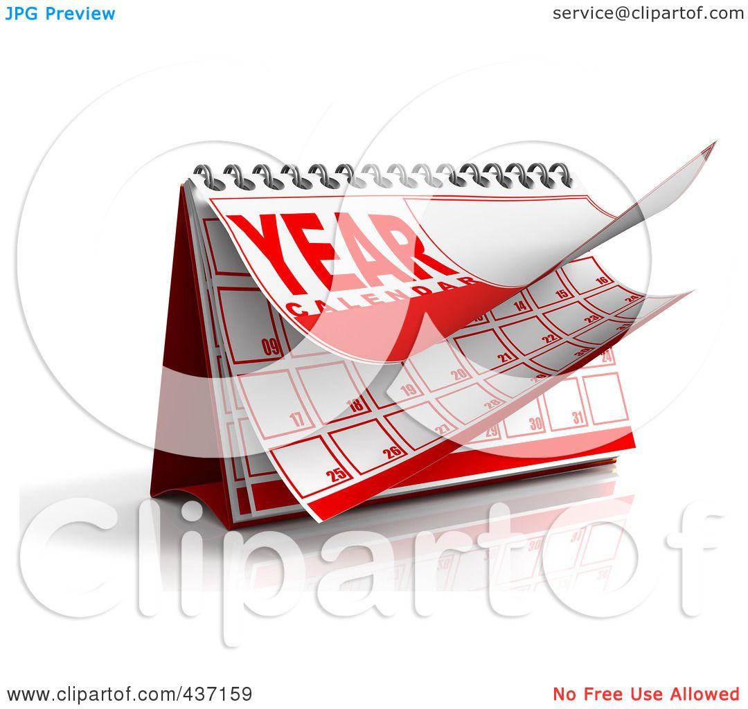 Illustration Calendar Design : Royalty free rf clipart illustration of a d year