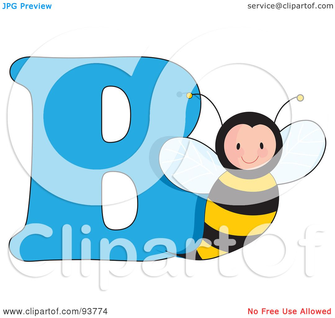 royalty free rf clipart illustration of a b is for bee learn the alphabet scene by maria bell