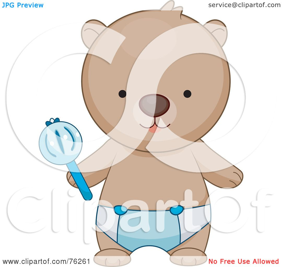 Royalty Free Rf Clipart Illustration Of A Baby Boy Bear In A