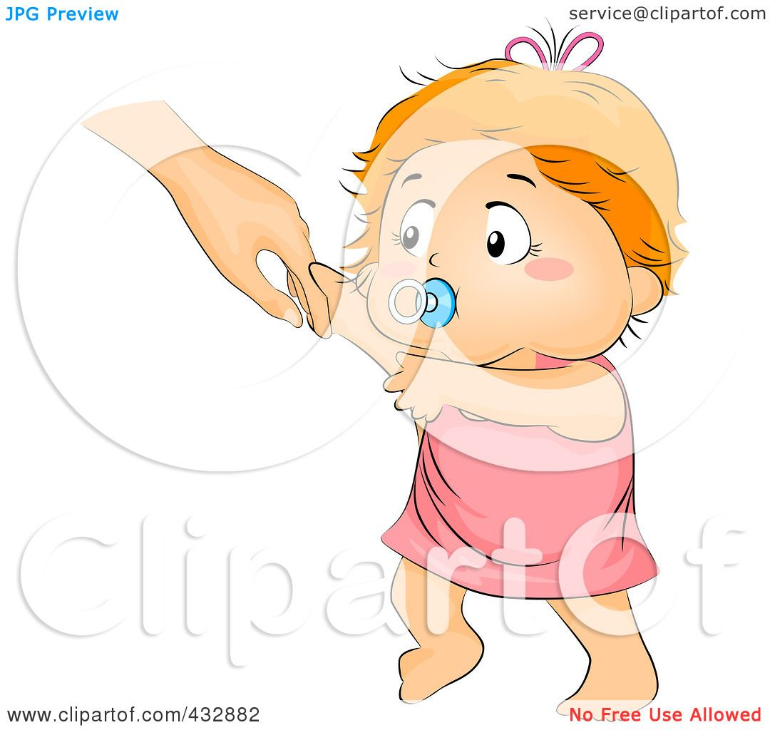 Royalty Free Rf Clipart Illustration Of A Baby Girl