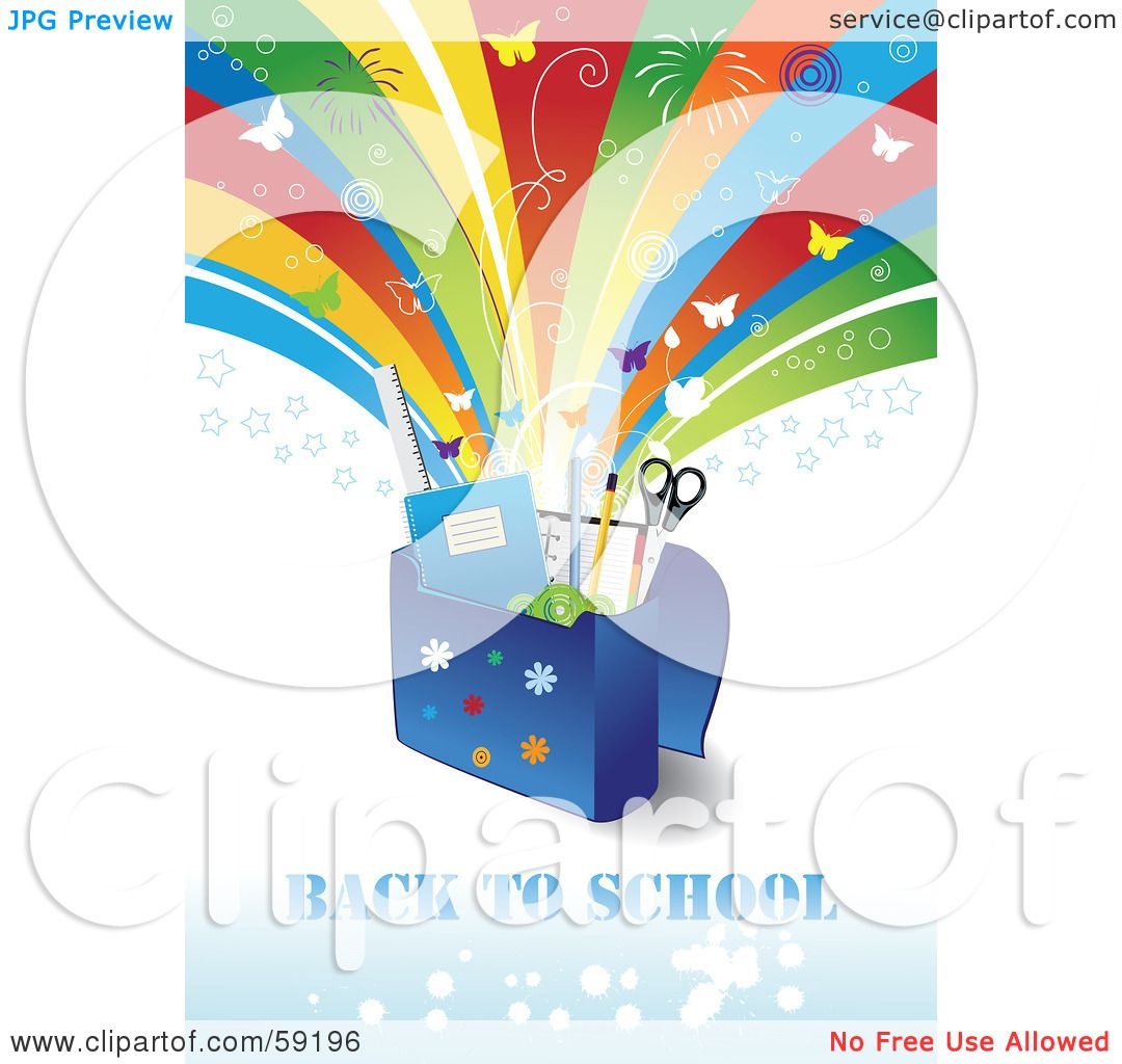 Royalty-Free (RF) Clipart Illustration of a Back To School ...